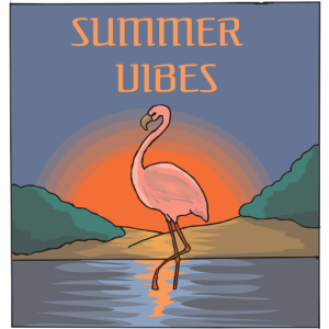Summer Vibes Flamingo Sunset