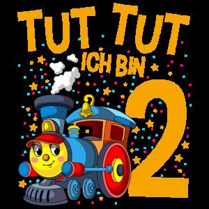 2. Geburtstag Eisenbahn Zug 2 Jahre Jungen