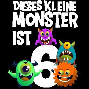 6. Geburtstag Junge Kleines Monster 6 Jahre