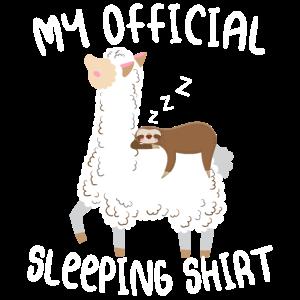 Mein Offizielles Schlafshirt mit Faultier & Alpaka