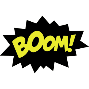 Sprechblase Boom