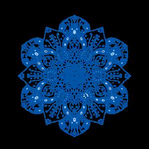Mandala floral blau zart