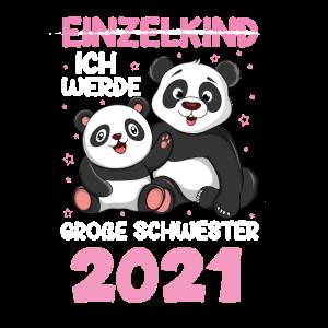 Ich werde eine große Schwester 2021 Panda Bär
