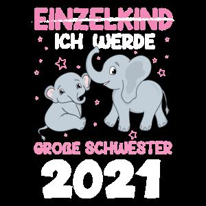 Ich werde eine große Schwester 2021 Baby Elefant