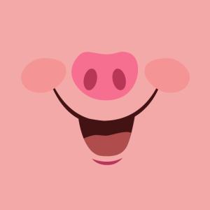 Gesichtsmaske mit Tiermund | Motiv Schwein