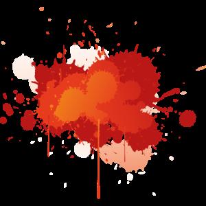 Farbe Klecks Spritzer Maler Geschenk bunt paint