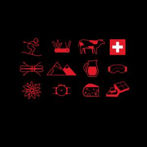 Schweizer Maske - Mundschutz Schweizer Elemente