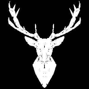 Geometrischer Hirsch | Low Poly Tiere