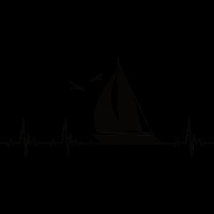 Segeln Segelschiff Heartbeat Segelfan Herzschlag