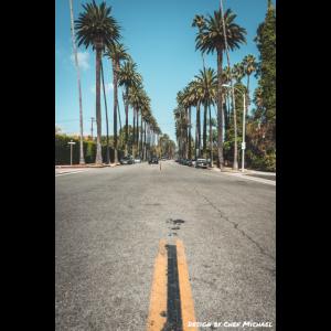 Strasse in den Hollywood Hills