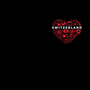 Schweizer Maske - Mundschutz mit Schweizer Herz