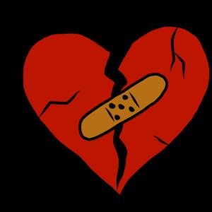 Liebeskummer gebrochenes Herz Trennung Geschenk