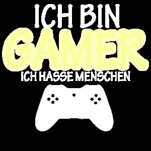 Ich bin Gamer Cooler Spruch Cooles Gamer Geschenk