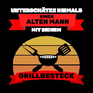 Grillmeister Spruch Grillbesteck für Grillparty