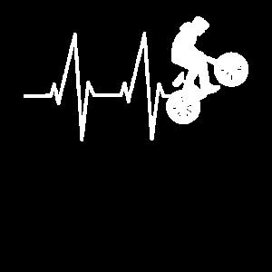 Montainbike Herzlinie Biker Bike Herzschlag EKG