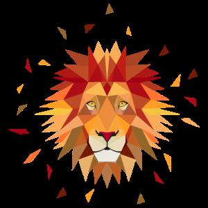 Löwe geometrisch