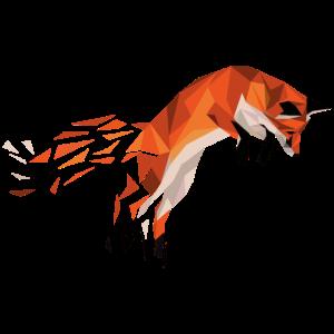 Geometrische Tiere - Geometrischer Fuchs