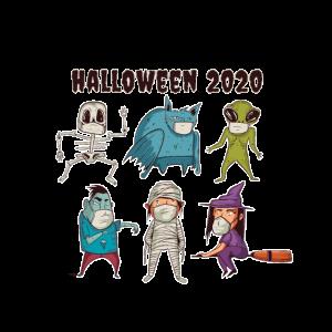 Halloween 2020, Monster mit Masken