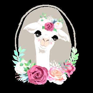 Lama flower Power Geschenkidee Geburtstag