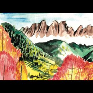 Berglandschaft im Comicstil