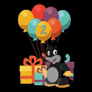 Geburtstag Ich Bin 2 Maulwurf Zwei Jahre