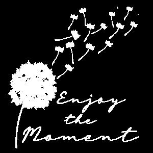 Enjoy the moment Pusteblume Löwenzahn Leichtigkeit