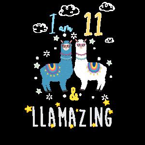 Ich bin 11 und llamazing, Geburtstagsgeschenk für Lama Love