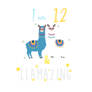 Ich bin 12 und llamazing, Geburtstagsgeschenk für Lama Lover