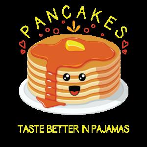 Besserer Geschmack Frühstücksparty Pfannkuchen und Pyjamas
