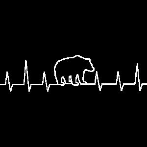 Herzschlag Baer Geschenk Tierliebe Grizzly Jäger