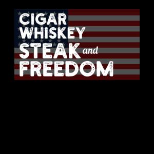 Zigarren Steaks Whisky Freiheit Cigars Whiske