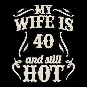 Ehefrau 40. Ehemann Geburtstagsfeier Geschenk