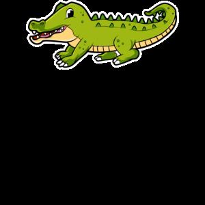 Karikatur-Krokodilillustration