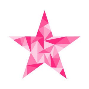 Stern Symbol geometrisch Rosa