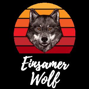 Einsamer Wolf Wölfe Wolfsrudel Geschenk
