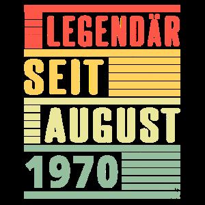 Legendär Seit August 1970 50. Geburtstag Geschenk