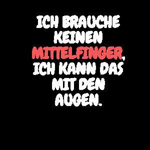 freches Mittelfinger Stinkefinger T-Shirt