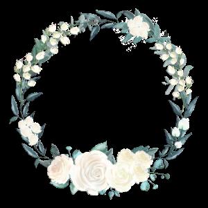 Blumenkranz Weiss und Gruen 1