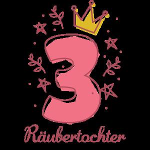 3 Jahre Geburtstag Geschenk Räubertochter