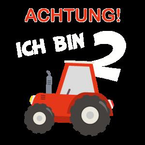 Kinder 2 Geburtstag Traktor Bauernhof 2 Jahre