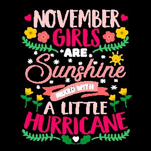 November Girls Sunshine Birthday Bday Geburtstag