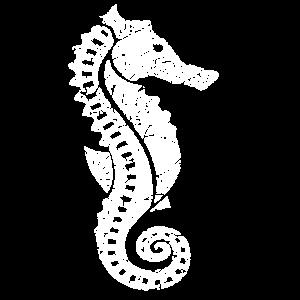 Seepferdchen Seepferdchen Blumenmuster
