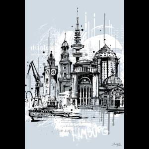 Hamburg Collage Illustration