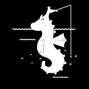 Angler Fischer Seepferd Seepferdchen Geschenk