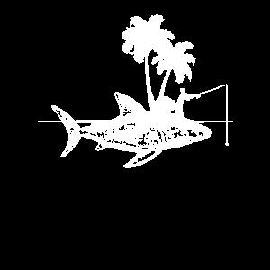 Angeln Fischen Hai Shark Insel Papa Opa Geschenk