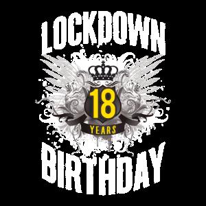 18 Jahre altes Lockdown Geburtstag 2020 T-Shirt