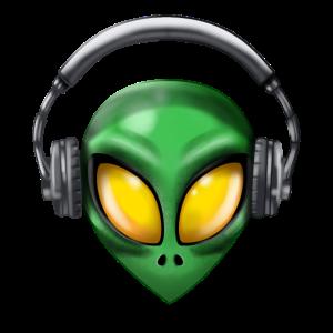 Alien with Headphones
