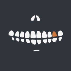 Lustige Maske - Mundschutz mit Skelett