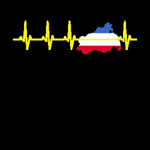 Mecklenburg-Vorpommern Flagge Herzschlag EKG