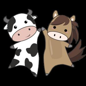Kuh Pferd Tiere Tier Bauernhof für Kinder reiten